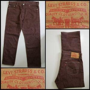 Levi's 501 Men Denim Button Fly Straight Jeans 38